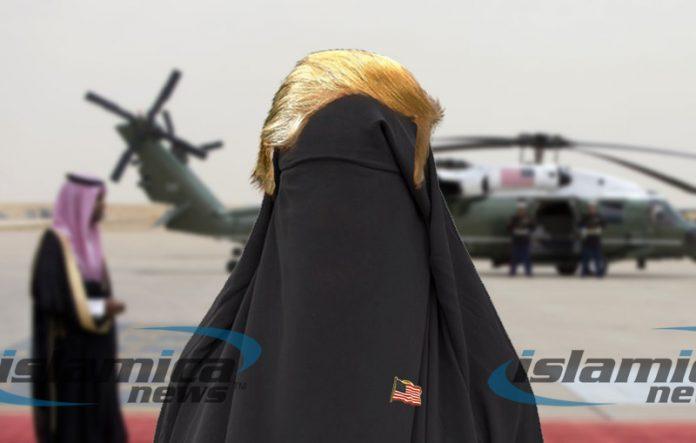 Trump in a burqa.