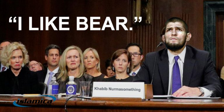 "Khabib to Senate: ""I LIKE BEAR."""