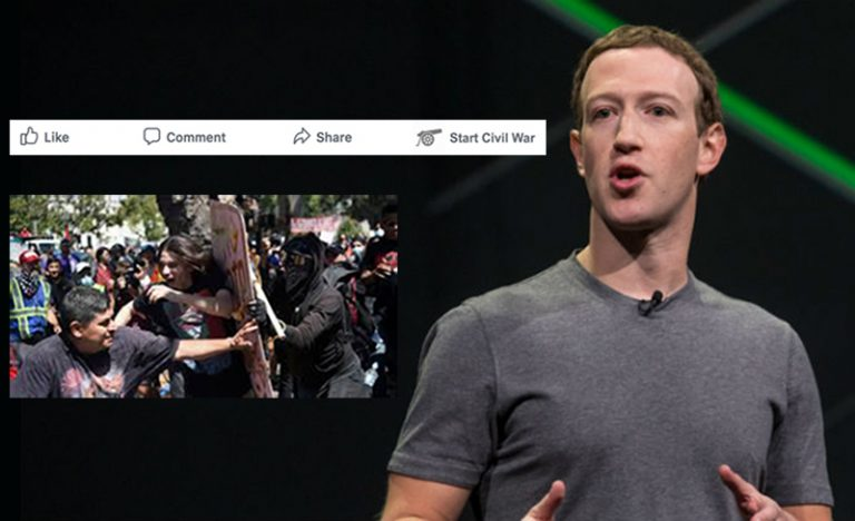 Facebook Unveils 'Start Civil War' Feature To Address Current Political Crisis